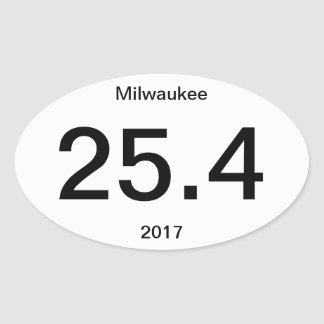 25.4 Marathon Milwaukee Oval Sticker