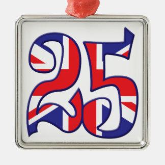 25 Age UK Metal Ornament