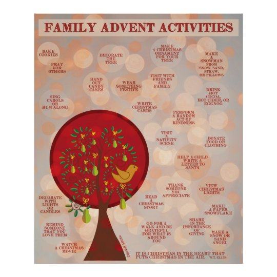 25 Family Advent Activities Poster