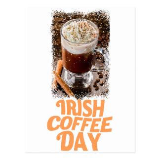 25 janvier - jour de café irlandais carte postale