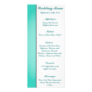 25 Menu Cards Seahorse Anchor Turquoise Beach Ocea Full Color Rack Card