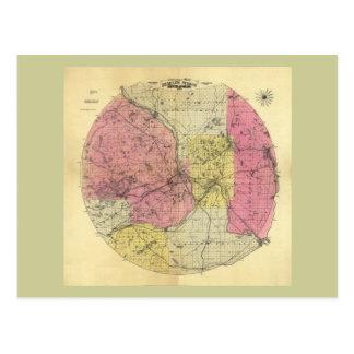 25 Miles Around Minneapolis - 1881 Map Postcard