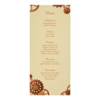 25 Steampunk Cogs and Gears Wedding Menu Cards Custom Rack Card