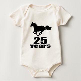 25 Years Birthday Designs Baby Bodysuit