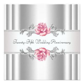 25ème anniversaire de mariage d'argent rose de ros bristol