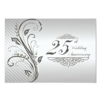 25ème Anniversaire de mariage RSVP Carton D'invitation 8,89 Cm X 12,70 Cm