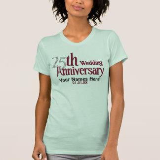 25ème Argent et anniversaire de Bourgogne Tee-shirt