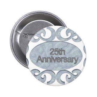 25ème Boutons d'anniversaire de mariage Badges