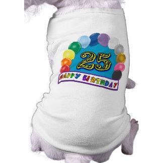 25ème Cadeaux d'anniversaire avec la conception as Vêtement Pour Animal Domestique
