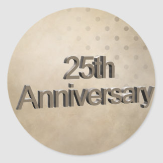 25ème Cadeaux d'anniversaire de mariage Adhésif Rond