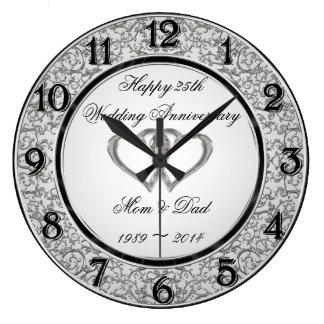 25ème Horloge murale d'anniversaire de mariage