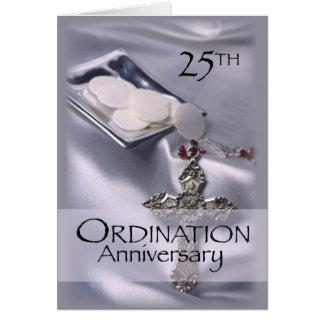 25ème Hôte de croix d anniversaire de classificati Carte
