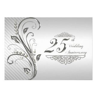25ème Invitation d anniversaire de mariage
