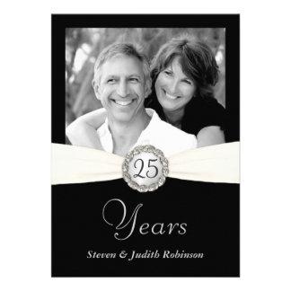 25ème Invitations d anniversaire - photo faite sur