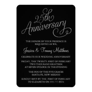 25ème Invitations d'anniversaire de noces d'argent