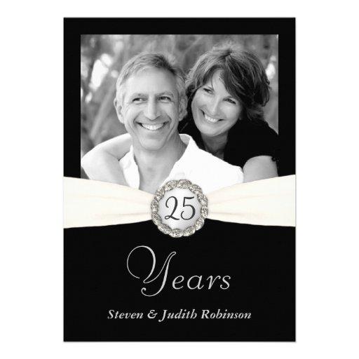 25ème Invitations d'anniversaire - photo faite sur