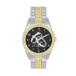 25ème montre d anniversaire de noces d argent montres