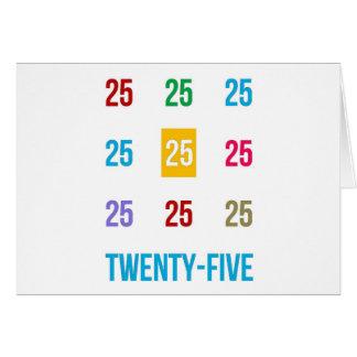 25th 25 Twentyfifth Birthday Anniversary GIFTS xxv Card