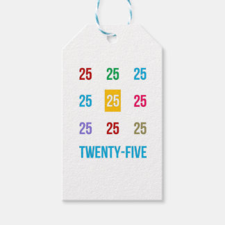 25th 25 Twentyfifth Birthday Anniversary GIFTS xxv Pack Of Gift Tags