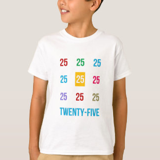 25th 25 Twentyfifth Birthday Anniversary GIFTS xxv T-Shirt