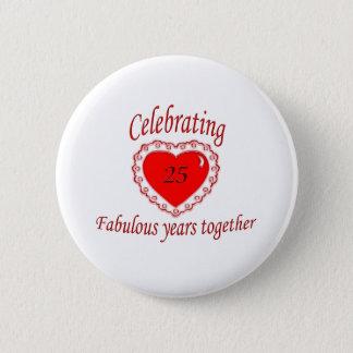 25th. Anniversary 2 Inch Round Button