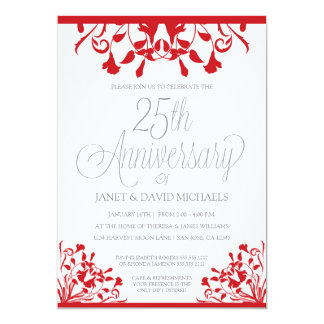25th Anniversary Botanical Red Card