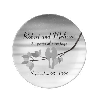 25th Anniversary Celebration Plate