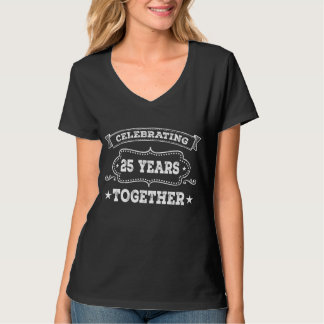 25th Anniversary Chalkboard Style Party T-shirt