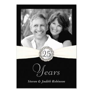 25th Anniversary Invitations - Custom Photo