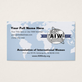 25th Anniversary Logo on AIW Business Card