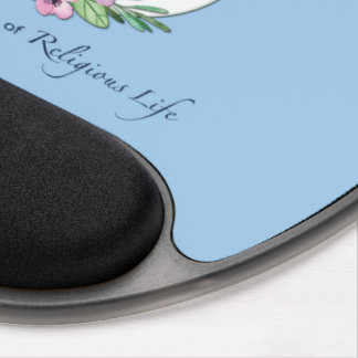 25th Anniversary of Catholic Nun Wreath and Silver Gel Mouse Pad