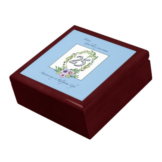 25th Anniversary of Catholic Nun Wreath and Silver Gift Box