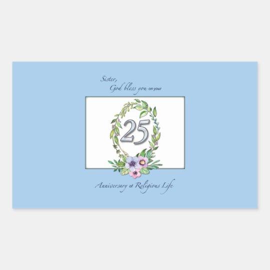 25th Anniversary of Catholic Nun Wreath and Silver Sticker