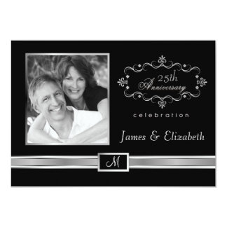 25th Anniversary Party Invitations - with Photo