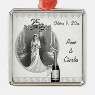 25th Anniversary Photo Keepsake Ornament