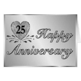 25th Anniversary - Silver Card