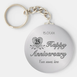 25th Anniversary - Silver Keychain
