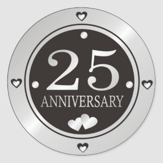 25th Anniversary Stickers
