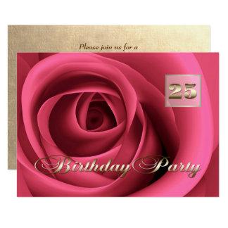 25th Birthday Celebration Custom Invitations