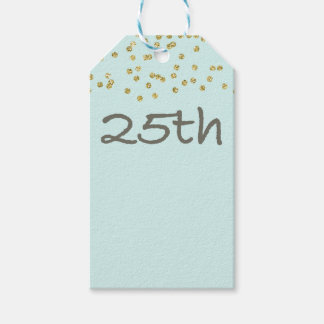 25th Birthday Confetti Pack Of Gift Tags