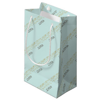 25th Birthday Confetti Small Gift Bag