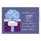 25th Birthday Customizable Card