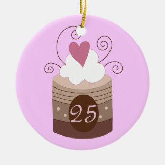 25th Birthday Gift Ideas For Her Round Ceramic Ornament