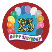 25th Birthday T-Shirts, 25th Birthday Gifts, Cards, Pos