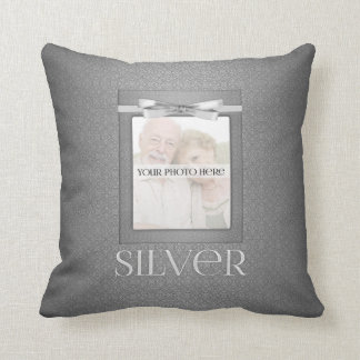 25th Diamond Wedding Annivsersary  Photo Throw Pillow