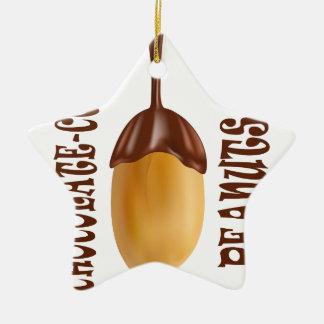 25th February - Chocolate-Covered Peanuts Day Ceramic Ornament