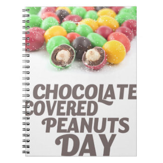 25th February - Chocolate-Covered Peanuts Day Notebook