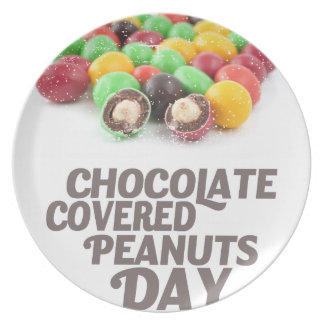 25th February - Chocolate-Covered Peanuts Day Party Plates