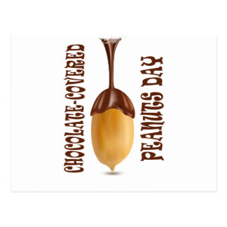 25th February - Chocolate-Covered Peanuts Day Postcard