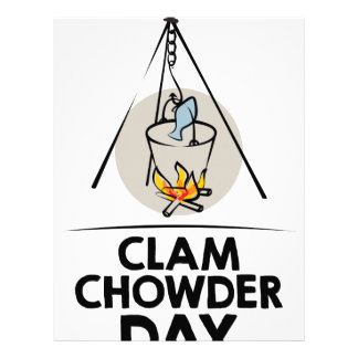 25th February - Clam Chowder Day Personalized Letterhead